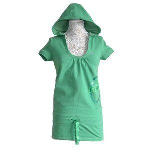 Adidas Green Hooded Short Sport Dress